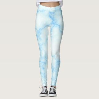 Legging Leggins de mármore azuis