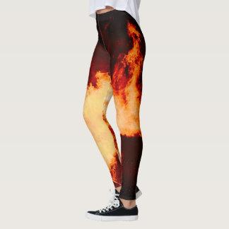 Legging Leggins do fogo do vulcão quentes!