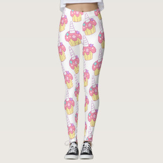Legging leggins do unicórnio do cupcake