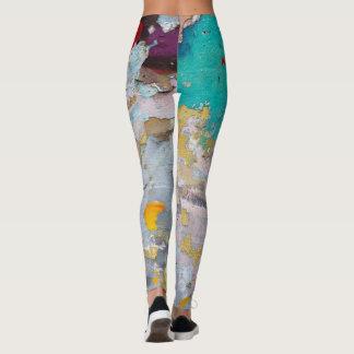 Legging Leggins dos grafites coloridos e na moda