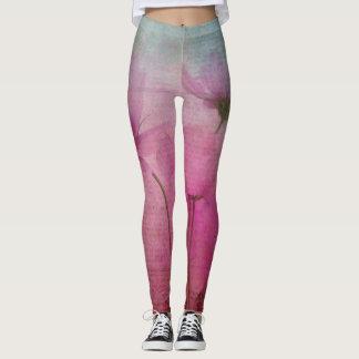 Legging Leggins Pastel cor-de-rosa da flor