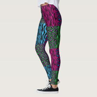 Legging Leopardo de Brights & impressão à moda da zebra