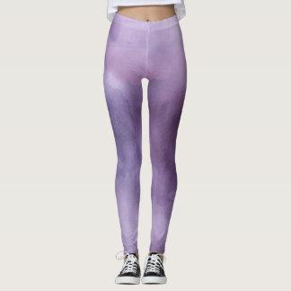 Legging Lilac roxo pastel do hipster do ikat da aguarela