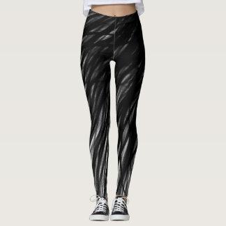 Legging Linhas da grafite - caneleiras