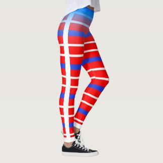 Legging Listra horizontal azul/branca escolhe sua própria