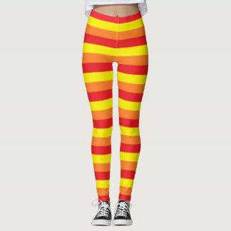 Legging Listras alaranjadas, vermelhas e amarelas