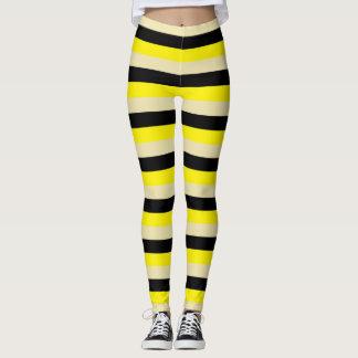 Legging Listras amarelas, bege e pretas