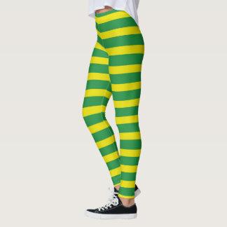 Legging Listras amarelas e verdes