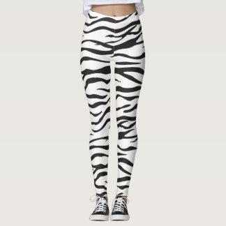 Legging Listras da zebra/design do impressão pele da zebra