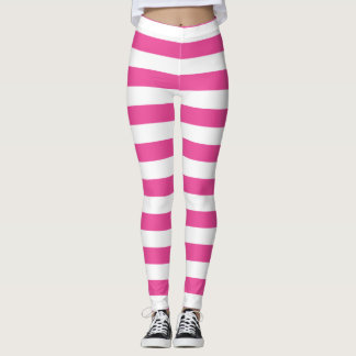 Legging Listras horizontais cor-de-rosa