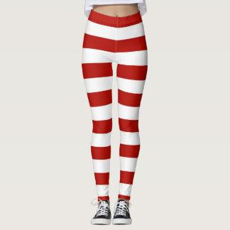 Legging Listras vermelhas e brancas
