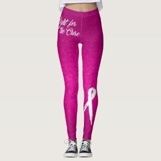 Legging Luta para a cura (consciência do cancro da mama)