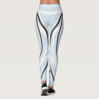 Legging Luz - azul com tiras brancas