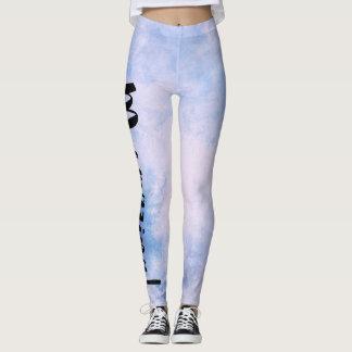 Legging Luz - azul - sereia Textured branca de Mermazing