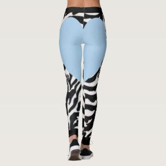 Legging Luz - coração azul da zebra