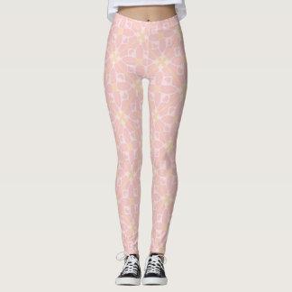 Legging Luz - floral retro cor-de-rosa