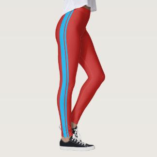 Legging Luz - listra de competência azul