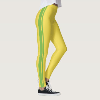 Legging Luz - listra de competência verde