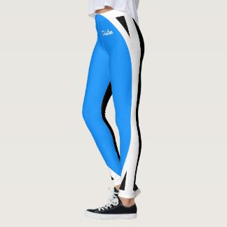 Legging Luz - preto e branco azul