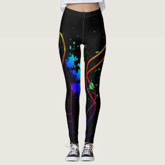 Legging Manchas multicoloridos