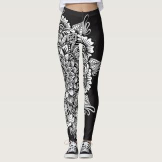 Legging Mandala preto e branco