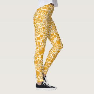 Legging Mini design amarelo e branco dourado do azulejo