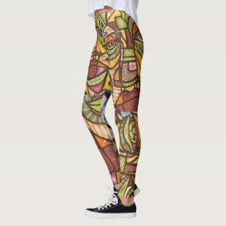 Legging mosaic face
