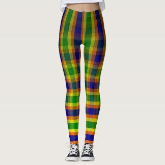 Legging Multi vertical colorido, xadrez, caneleiras