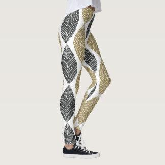 Legging O abstrato empluma-se caneleiras do teste padrão