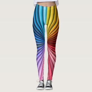 Legging O arco-íris abstrato colore o teste padrão do