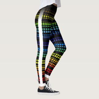Legging O arco-íris Polkadot no preto escolhe sua própria