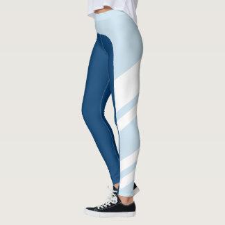Legging O azul assimétrico da banda lateral protege