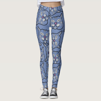 Legging O CAT ENFRENTA O AZUL por Slipperywindow