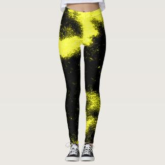 Legging O delírio preto & amarelo de Marshmello Remix a