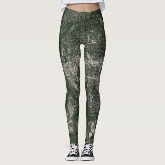 Legging O forte Dodge Iowa sentou caneleiras do mapa