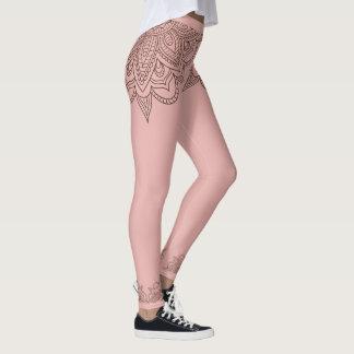 Legging O Henna da mandala inspirou caneleiras