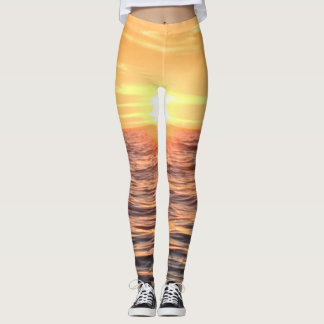Legging O oceano do por do sol