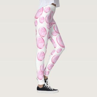 Legging O rosa borbulha branco