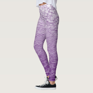 Legging O roxo desvanece-se mini design do azulejo