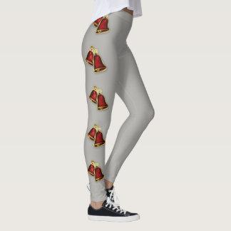 Legging Olhar impressionante dos sinos vermelhos à moda