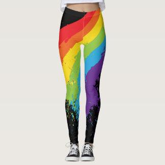 Legging Orgulho de Splat LGBT do arco-íris