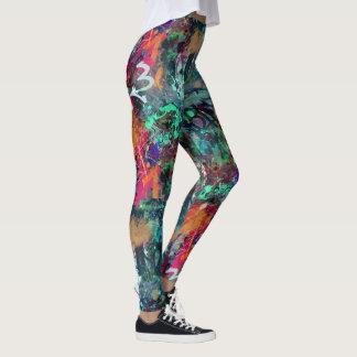 Legging Os grafites muram e o Splatter da pintura pistola