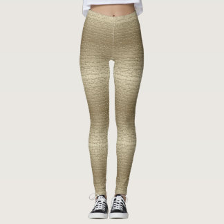 Legging Ouro legal caneleiras textured