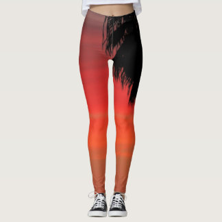 Legging Palmeira VERMELHA