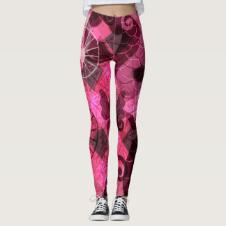 Legging Pantera cor-de-rosa abstrata