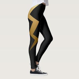 Legging Parafuso de relâmpago do ouro