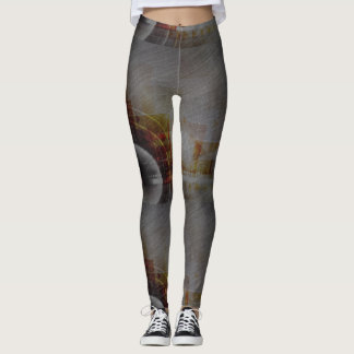 Legging Peggings modelados abstrato do cinza