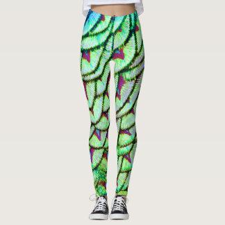 Legging Peito do verde vívido