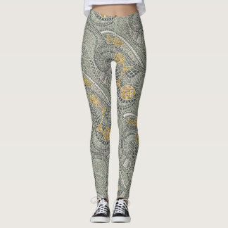 Legging peixes do mosaico