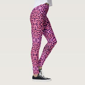 Legging Pele cor-de-rosa e roxa de Jaguar